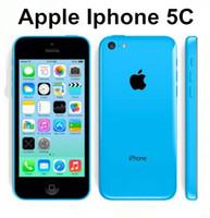 handys iphone 5c großhandel-Ursprüngliches Apple iPhone 5C Dual Core iOS 1G / RAM 16G / 32GROM iphone5c 8MPCamera WIFI GPS-Handy Das ursprünglich überholte Telefon