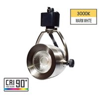 Wholesale h white lights resale online - LED Tracking Light Head Track Lighting Fixture Integrated CRI90 With K Warm White V W Adjust Angle for H Type Track System