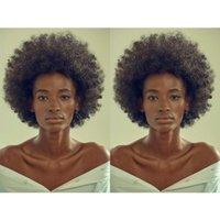 ingrosso parrucca ricci brasiliana afro kinky-NUOVA parrucca riccia crespo riccia afro-americana afro-americana capelli sintetici parrucca riccia per le donne in magazzino