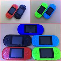 16 bit taşınabilir oyun konsolu toptan satış-16 Bit PXP3 Retro Taşınabilir El Oyun Konsolu AV Kablosu Video Oyun Oynatıcı Çocuklar Çocuklar için