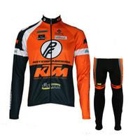 Wholesale pants ktm - KTM team Cycling long Sleeves jersey (bib) pants sets Ropa Ciclismo Quick Dry Mtb Pro Bicycle Clothing Wear Gel Pad C1407