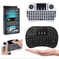 kontrol tabletleri toptan satış-Mini Rii i8 Kablosuz Klavye 2.4G İngilizce Hava Fare Klavye Akıllı Android TV Box için Uzaktan Kumanda Touchpad Dizüstü Tablet Pc