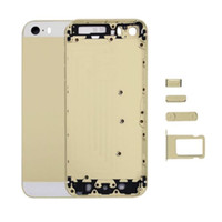 Wholesale complete housing - Mobile phone gold silver gray rose gold complete housing with components for iPhone 5s ,Back cover , Battery cover