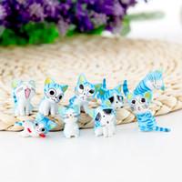 ingrosso ornamenti giardino gatti-Mini Cat Fairy Garden Miniature Garden Ornament Decorazione Micro Landscape Bonsai Figurine Artigianato in resina Cute Kitten