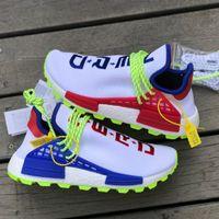 Wholesale up profile - High-profile Human Race NERD Creme Homecoming PW Hu Running Shoes, new Pharrell Williams Hiking Trail Sneakers Men Women Trainer Run Shoe