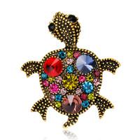antik iğneler toptan satış-Kore Altın Broş Lot Düğün Broş Başörtüsü Pin Up Broches Ücretsiz Vintage Takı Broş Buket Kaplumbağa Antika Toptan Lot