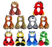 Wholesale Cotton Kapok - U-shaped Baby pillow Cartoon Shaping Pillow for kids Headrest Neck Protection Pillow Children Car Safety Seat Neck Protection
