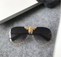 Wholesale Bee Resin - Luxury 2238 Sunglasses Men Women Brand Designer Popular Fashion Big Summer Style With The Bees Top Quality UV Protection Lens Come With Case