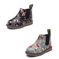 zapatos princesa impreso al por mayor-Vieeoease Girls Shoes 2018 Otoño Invierno Korean Fashion Print Boot Anti Slip PU Princesa Zapatos EE-940