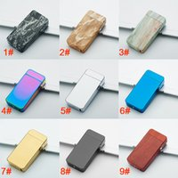 Wholesale Usb Lighter Designs - 9 Design Dual Arc Electric USB Lighter Rechargeable Plasma Windproof Flameless Cigarette Cool Gift For Man XL-448