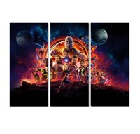 nackter kunstmann großhandel-3 stücke Kunst LEINWAND DRUCK The Avengers Iron Man Anime Poster Abstrakte Malerei Hauptwanddekor Moderne Kunst Home Art Wohnzimmer Dekoration