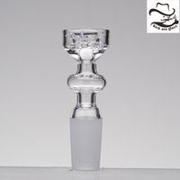 Wholesale cap stack - Diamond Knot Quartz Nail Double Stack Stacker Frosted Joint Elegant Design No Carb Cap Gift Club Dad Rig 409