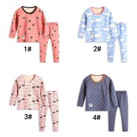 Wholesale child suit for winter for sale - Group buy Children plus velvet suit students autumn and winter new thermal underwear base home service for styles