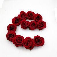 ingrosso i regali dei mestieri diy-30pcs / lot teste di fiore artificiali delle teste di seta delle rose per la decorazione della festa nuziale corona di DIY del regalo del mestiere di Scrapbooking del fiore