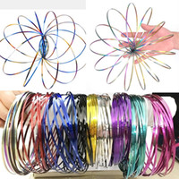 Wholesale Fun Bracelets - Metal Hand Arm Rainbow 11 color ring flux mobile toys amazing flow rings eliminate the pressure of magic bracelets, fun outdoor game intel