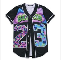 Wholesale 3d Alphabet - Summer men T-shirt Cardigan Alphabet 3D printing hip-hop short sleeve tops Cardigan baseball uniform Casual mr. tees