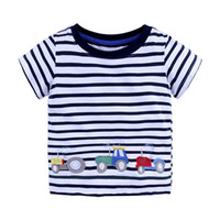 Wholesale boys summer cars clothes for sale - Group buy Boys T shirt Cotton cartoon animals car printing summer clothes Boys clothing children s T shirt color