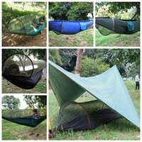 Wholesale parachute tents - Parachute Cloth Mosquito Net Hammock Outdoor Camping March Anti-mosquito Swing Aerial Tent Sleeping Hammock for Hiking CCA9789 20pcs