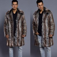 In winter, a new fur mink coat is available for men.