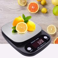 caja de batería aa al por mayor-NUEVO 10kg / 1g LCD de acero inoxidable Cocina Digital Escala de alimentos Joyería Escala de precisión de peso con caja al por menor