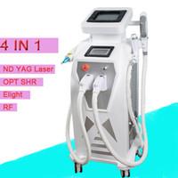 Wholesale Rf Radio Switch - Fast Result Elight IPL Radio Frequency RF Skin Rejuvenation Laser Q Switch Tattoo Removal laser Skin Whitening RF Skin Lifting Machine