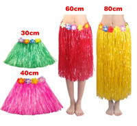 Wholesale children's bracelets online - Popular Tassel Child Girl Princess Flower Hula Grass Skirt Fancy Costuhow me Show SkirtHula grass skirts garlands bracelet head