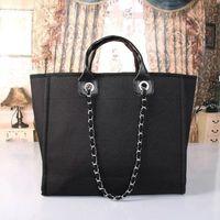 Wholesale Brand Name Messenger Bag - 2018 fashion brand name women handbags Canvas Shoulder bag chains large capacity bags handbag hobos totes purse messenger bags 47CM