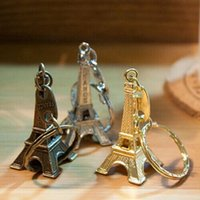 Wholesale paris keychain souvenir for sale - Group buy Eiffel Tower Keychain Retro Classic Souvenirs Paris Tour Key Chain Vintage Key Ring Holder Decoration Gifts Cold Silver Bronze DHL FREE
