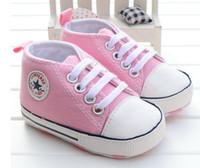 ingrosso moda ragazzi britannici-Neonati Ragazzi Scarpe per bambini Moda Infant Toddler Primi camminatori Bebe Bebo British Style Soft Suola Sneakers sportive