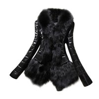 Wholesale Padded Leather Neck Collar - Size S-XXXL Black New Women Winter Warm Fur Collar Coat PU Leather Thick Jacket Lady Cotton Padded Overcoat Long Parka Nov17