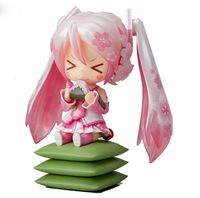 "Wholesale Anime Figure Hatsune Miku - Anime Cute Nendoroid 4"" Hatsune Miku 274# Sakura Miku PVC Action Figure Collectible Model Toy Doll 10CM KT092"
