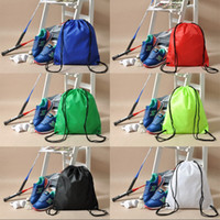 Wholesale plain baby shoes for sale - 6 colors Waterproof Nylon Storage Bags Drawstring Backpack Baby Kids Toys sport dance Shoes backpack Laundry Lingerie Makeup Pouch