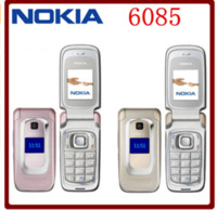Wholesale flip mobiles - Original Unlocked Nokia 6085 GSM 2G 1.8 Inches FM Radio 970 mAh Flip Refurbished Mobile Phone Multi-language