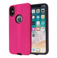 Wholesale galaxy light phone cases online - Armor Hybrid Brushed Case For Samsung Galaxy A6 A6 Plus PC TPU Phone Cover A