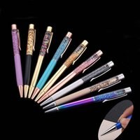 Wholesale Gifts Sign - New Luxury Crystal Pen Sand Glass Metal Ballpoint Pens Sign pen Stationery Promotion Gift Drop Shipping