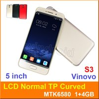 """Wholesale cheapest wifi card - Cheapest 5"""" TP Curved Screen Quad Core Smart phone Android 6.0 MTK6580 1G 4GB 3G WCDMA unlocked Dual SIM cam 5MP Gesture Vinovo S3 50pcs"""