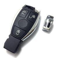 chave do carro inteligente em branco venda por atacado-Cobertura de chave de controle remoto de substituição para Mercedes Benz E série carro chave inteligente em branco sem navio dentro com logotipo