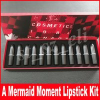 Wholesale mermaid mix - M Makeup Cosmetics 1984 A Mermaid Moment Matte Lipstick 12 Colors Lipstick Set 12pcs Matte Lipsticks Kit
