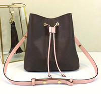 Wholesale printed leather handbags for sale - Group buy New shoulder bags with leather bucket bag women famous brands designer handbags high quality flower printing crossbody bag purse