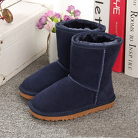 toddler flats Australia - Factory Hot Winter 5281uugg Middle tube child shoes toddler grils snow boots Beef tendon flat Keep warm Winter botte enfant fille boys boots