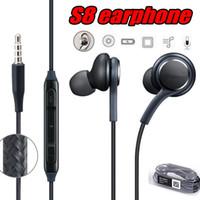 Wholesale galaxy note earphones - S8 Earphones Hands Free Earbuds Headphones Headset With Mic for Samsung Galaxy S8 Plus S7 S6 Edge Note 5