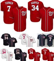 Wholesale nationals baseball for sale - Washington Nationals Jersey Top Bryce Harper Trea Turner Baseball Jerseys Cheap M XXXL