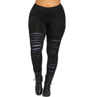 Wholesale womens sexy yoga pants leggings for sale - Group buy Plus Size Womens Sexy Leggings Trousers Yoga Sport Hole Pants Sexy Solid Color High Waist Sports Athletic Elasticity Leggings