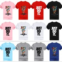 Wholesale mens clothing small - Mens Fashion Clothing Short Sleeve T Shrits With Letter Just Do it Print Hip Hop Men Summer tops Streetwear Asian Size Run Small Mix ZL3344