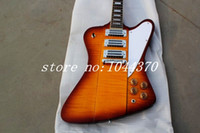Wholesale china musical guitar for sale - Group buy NEW electric guitar thunder bird with burst color Electric Guitar musical instrument China guitars