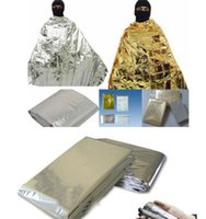 Wholesale waterproof thermal curtains for sale - Group buy Portable WaterProof Emergency Blanket Gold cm Survival Rescue Blanket Foil Thermal Space First Aid Rescue Curtain Outdoor PD00
