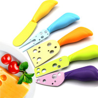 Wholesale new pc gadgets for sale - Arsmundi New Set Cheese Knife Set Cheese Fork Butter Knife MUti color Cheese Cutter Kitchen Cooking Gadget