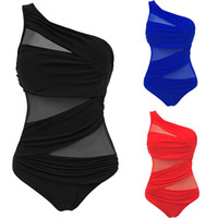 Wholesale ladies plus size bathing suits - M-4XL Sexy One Piece Swimsuit 2018 Women Top Plus Size Swimwear 3XL 4XL Push Up Bathing Suit Ladies Monokini Swimming Suit