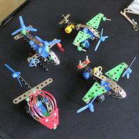 legierung spielzeug hubschrauber großhandel-Puzzle 3D Montage Spielzeug Motorrad Hubschrauber Jeep Truck Modell Spielzeug Ziegel Metalllegierung Bausteine Heißer Verkauf 7 2yq B
