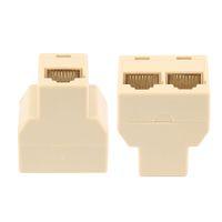 Wholesale Socket Lan - Centechia RJ45 CAT5 6 Ethernet cable LAN Port 1 to 2 Socket Splitter Connector Adapter